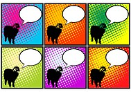 Sheep in pop art