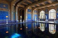 Indoor Swimming Pool In Hearst Castle A Mediterranean Style Mansion Near San Simeon, California United States Of America