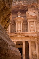 The Treasury In The Nabatean City, Petra Jordan