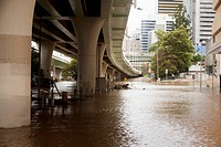 Flooding In An Urban Area, Brisbane Queensland Australia
