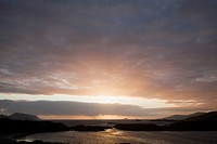 Sunset at derrynane harbour near caherdaniel, county kerry ireland