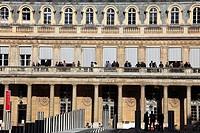 France, Paris, Palais-Royal, Cour d´honneur, people,