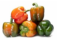 Raw peppers.