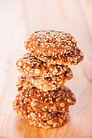 oatmeal cookies with a splash of sunflower seeds, sesame seeds
