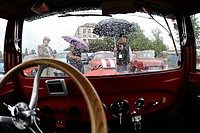 Second day of the Oldtimer Bohemia Rallye organised by the Club of the historical cars in Mlada Boleslav Stage was driven through Liberec region, one ...