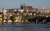 Prague, view of Charles´s Bridge with Prague´s Castle and other Mala Strana towers CTK Photo/Martin Sterba