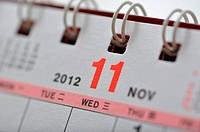 November of 2012 calendar