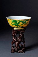 Chinese yellow dragon bowl.