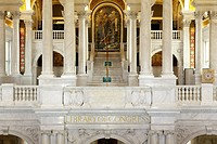 Interior of Library Congress in Washington DC