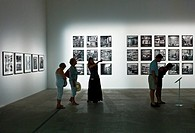 Italy, Venice, Biennale 2011, people in the modern art exhibition in the Arsenale´s halls