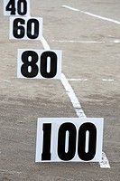 Field Markers for the Heavy Events at the 66th Annual Pacific Northwest Scottish Highland Games and Clan Gathering - Enumclaw, Washington