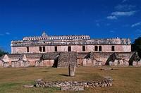 Mexico, Yucatan, Kabah, Maya ruins