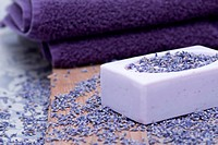 Luxury with lavender soap