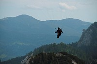 Paragleiten in den deutschen Alpen Paragliding in the German Alps