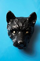 A ceramic head of a dog