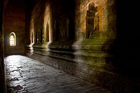 A corridor in a Buddhist temple, Bagan, Burma