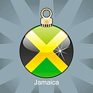 Jamaica flag in christmas bulb shape