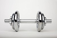 A shiny silver dumbbell (thumbnail)