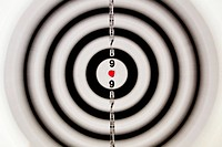 A target with a blurred focus except in the bull's eye