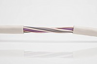 A cable with twisted exposed wires
