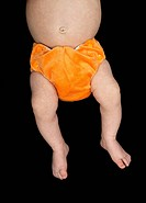 Baby in orange nappy