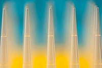 Row of pipettes