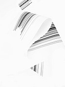 Black abstract lines against a white background
