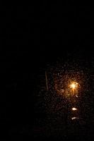 Firework exploding at night