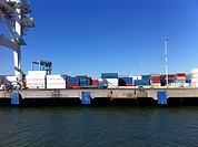 Cargo containers at Port of Oakland, California, USA (thumbnail)
