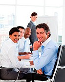 Multi_ethnic business team at a meeting
