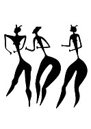 three women _ primitive art