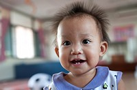 Portrait of a baby girl, Chiang Mai, Thailand
