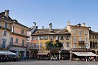 Italy, Piedmont, Domodossola, Mercato town square, Piazza del Mercato