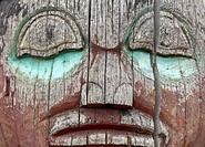 USA, Alaska, Wrangell, Raven Totem Pole