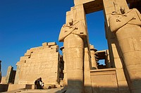 Egypt, Nile Valley, Luxor, Thebes, West bank of the River Nile, Ramesseum temple of Ramses II, Unesco world heritage