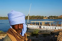 Egypt, cruise on the Nile river between Luxor and Aswan with Dahabieh type of boat, the Lazuli