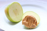 Green Apple with Peanut Butter