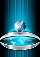 Blue Globe Business Background