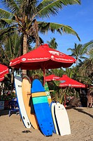 Surfboards for rent on Kuta Beach, Bali, Indonesia