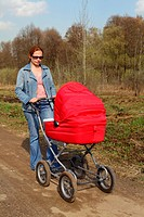 Forty_year mother and baby carriage