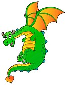 Flying fairy tale dragon