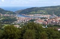 Pasajes Bay view from the Fort San Marcos Port of Pasajes aka Pasaia, Gipuzkoa, Basque Country, Spain