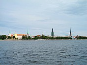 Sight of historical centre of Riga