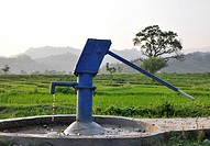 A Water Pump in a Beautiful Field in India