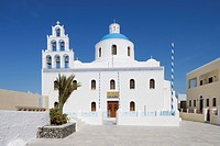 Greece, Church of Panagia of Platsani at Caldera Square in Oia