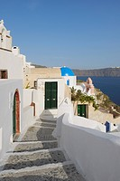 Greece, View of traditionally Greek town of Oia at Santorini
