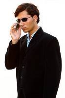 Close up shot of a businessman talking on phone