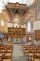 St Nicholas Church, altar, Hanseatic City of Stralsund, Mecklenburg_Western Pomerania, Germany