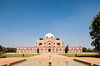 India, Delhi, View of Humayun´s Tomb