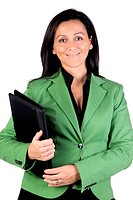 Businesswoman with green jacket